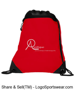 Red and Black Back pack Design Zoom